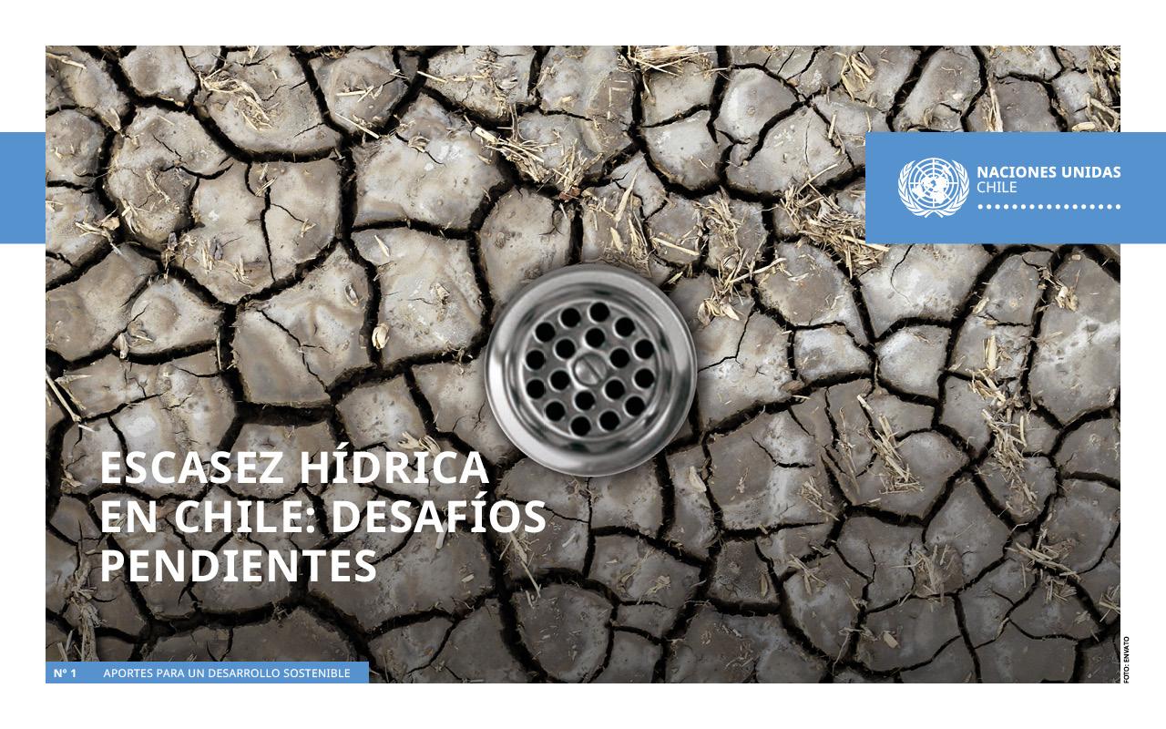 Portada documento muestra sequía y un desagüe en medio